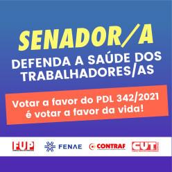 VALORIZE A VIDA: Pressione agora os senadores a votarem a favor do PDL 342/2021