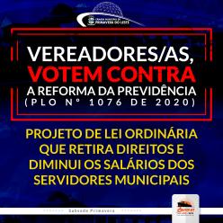 Vereadores/as Votem Contra a Reforma da Previdência